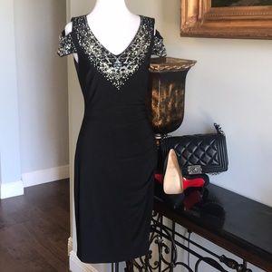 Cache Sparkling Cold Shoulder Dress